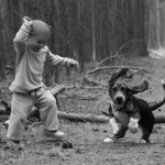 Boy Dancing With a Dog